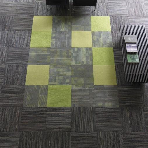 Shaw tangle carpet tile for Green label carpet